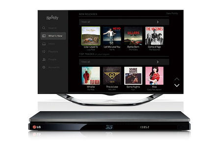 Spotify comes to LG Blu-ray players and home cinema systems