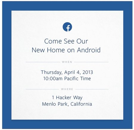 Facebook invites media to 'come see our new home on Android' on 4 April - photo 2