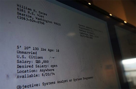 Bill Gates original CV revealed, was happy to accept any salary