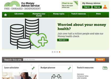 Website of the day: Money Advice