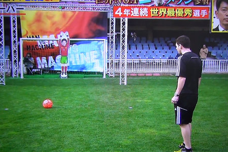 Japanese robot goalie bests greatest footballer in world, Lionel Messi (video)