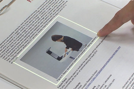 New Fujitsu tech turns paper into touchscreen