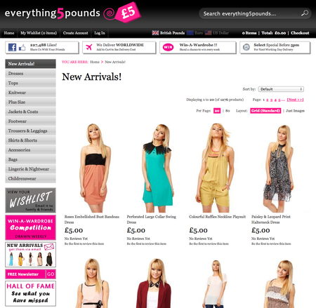 Website of the day: Everything 5 Pounds