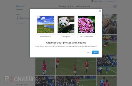 Dropbox albums and easier sharing now on mass rollout to all