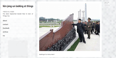 Website of the day: Kim Jong-Un Looking At Things