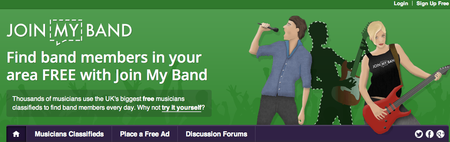 Website of the day: Join My Band