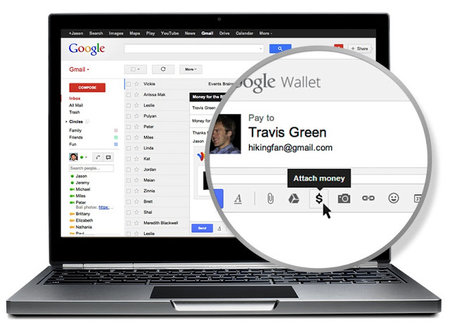 Google Wallet gets Gmail integration, lets you send money in email form