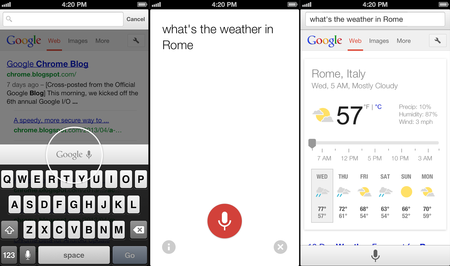 Google: Voice search 'coming soon' to Chrome for iOS