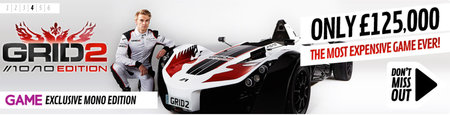 Grid 2 launches priciest pre-order in history, £125,000 with BAC Mono supercar included