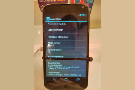 Android 4.3 pictured running on Nexus 4