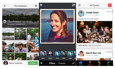 Google+ for iOS adds Auto Enhance, interactive Google Offer posts and hashtags