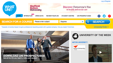 Website of the day: What Uni?
