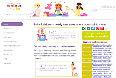 Website of the day: Mum 2 Mum Market