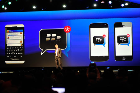 BlackBerry says preloaded BBM could arrive on competing handsets