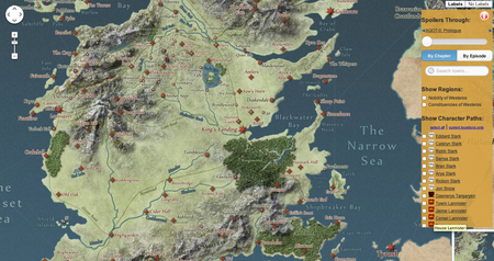 Website of the day: Interactive Game of Thrones Map