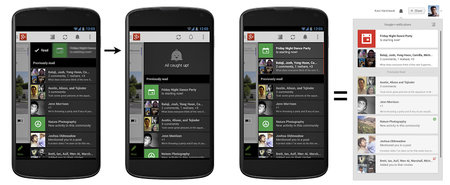 Google+ rolls out better notifications and syncing, updates Android app design