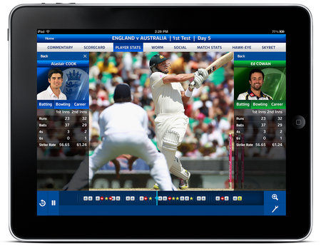 Sky Sports for iPad app updated with new Ashes specific event centre