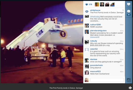 The White House and First Lady Michelle Obama join Instagram, upload video of First Family