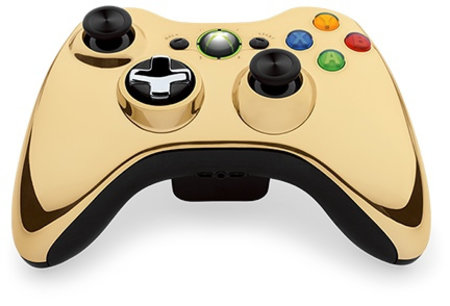 Microsoft unveils Gold Chrome Series wireless controller for Xbox 360
