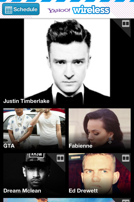 App of the day: Yahoo! Wireless Festival 2013 (iOS / Android / Blackberry) - photo 2