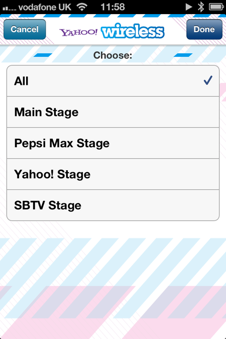 App of the day: Yahoo! Wireless Festival 2013 (iOS / Android / Blackberry) - photo 3