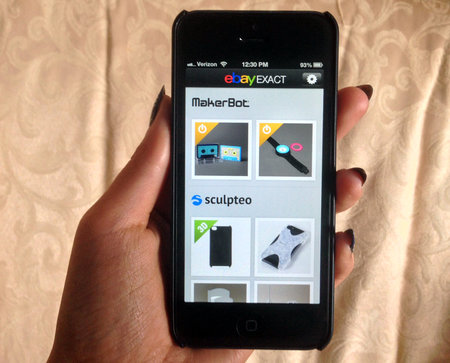 eBay Exact for iOS launches, a store for customisable 3D-printed products