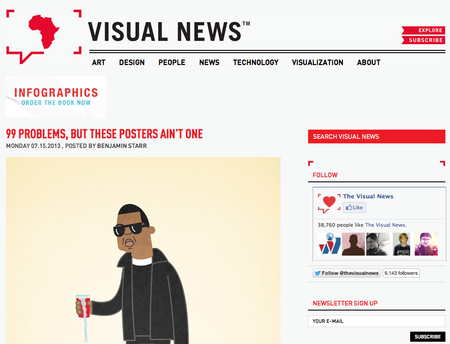Website of the day: Visual News
