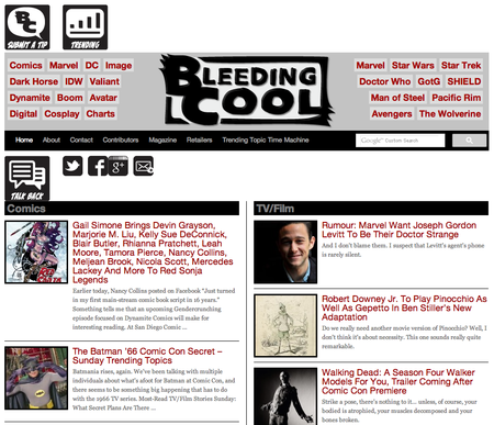Website of the day: Bleeding Cool