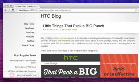 HTC accidentally publishes blog post to tease HTC One mini (Update)