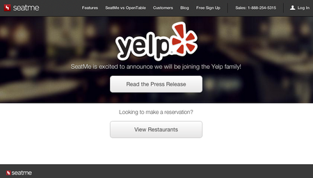 Watch out OpenTable: Yelp to acquire restaurant reservation system SeatMe