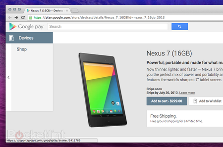 Google's new Nexus 7 hits US Google Play store - but Staples has $30 discount