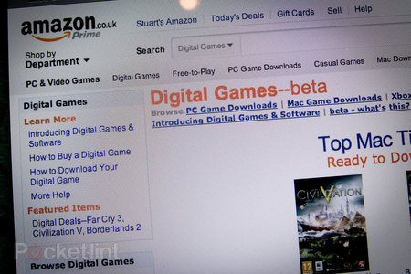 Amazon UK starts games and software digital downloads