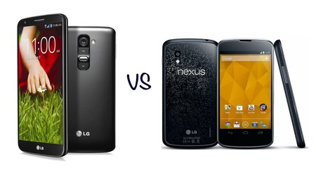 LG G2 vs Nexus 4: What's the difference?