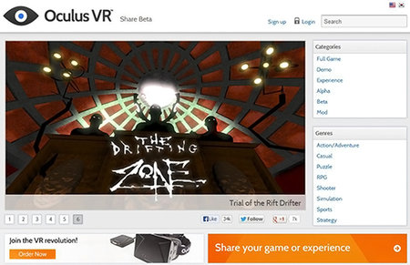 Oculus Share launches in beta,  a marketplace for Oculus Rift games and apps