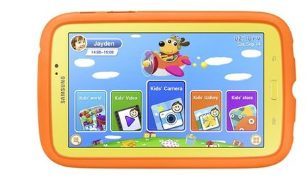 Fear drops no longer: Samsung Galaxy Tab 3 Kids offers Android 4.1 and colorful, rugged frame - photo 1