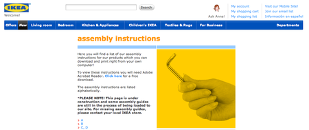 Website of the day: Ikea Instructions