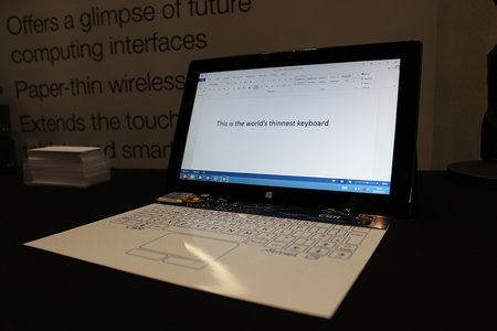 CSR: World's thinnest keyboard, fingers and hands-on