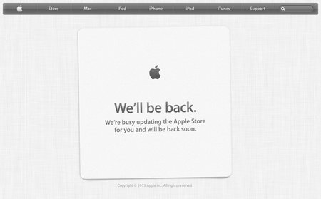 And so it begins: the Apple Store is down
