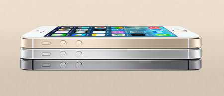 Apple iPhone 5S available in gold, silver and space grey options, looking bling