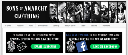 Website of the day: Sons of Anarchy Clothing