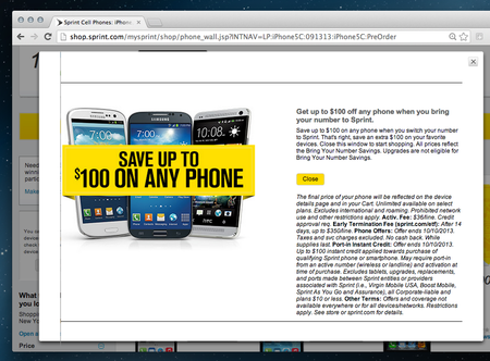 Want a free iPhone 5C? Sprint flaunts $100 discount on new iPhones - photo 2