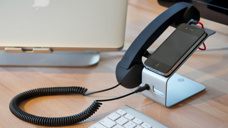 Feel professional: This accessory turns your iPhone into a desk phone