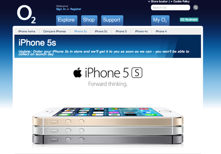 O2: No iPhone 5S stock on launch day, customers may have to wait until November