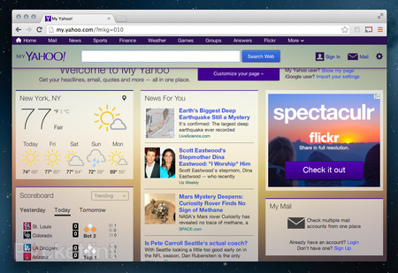 Yahoo relaunches My Yahoo with new modern look - ahead of iGoogle's retirement
