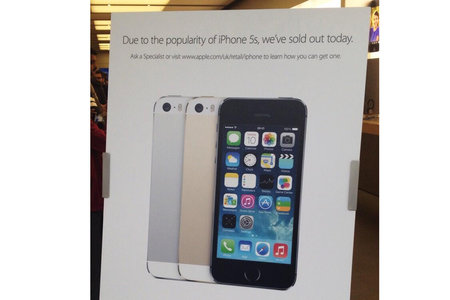 Apple Store already sold out of iPhone 5S, but you can still get one now (Updated)