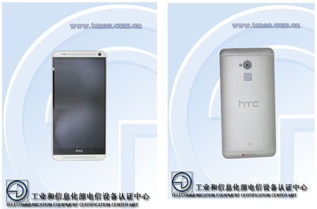 HTC One Max appears again showing fingerprint scanner, 5.9-inch display