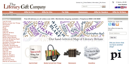 Website of the day: The Literary Gift Company