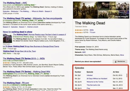 Google adds TV episode info to search, shows you exactly when The Walking Dead will air next