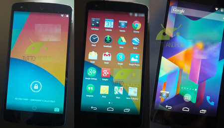 New Nexus 5 pictures show Android 4.4 KitKat in full swing