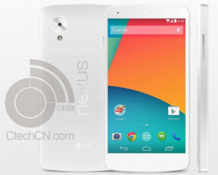 White Nexus 5 leaked online in alleged press render